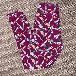 LulaRoe Lipstick Leggings O/S